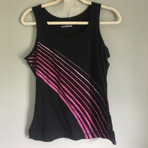Black and pink Tek Gear athletic tank top